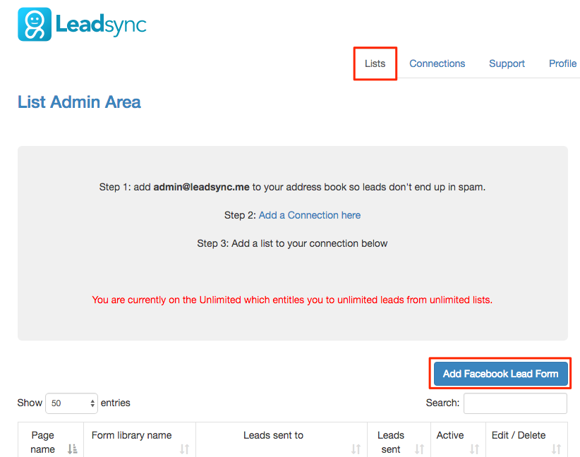 Add Facebook Lead Form