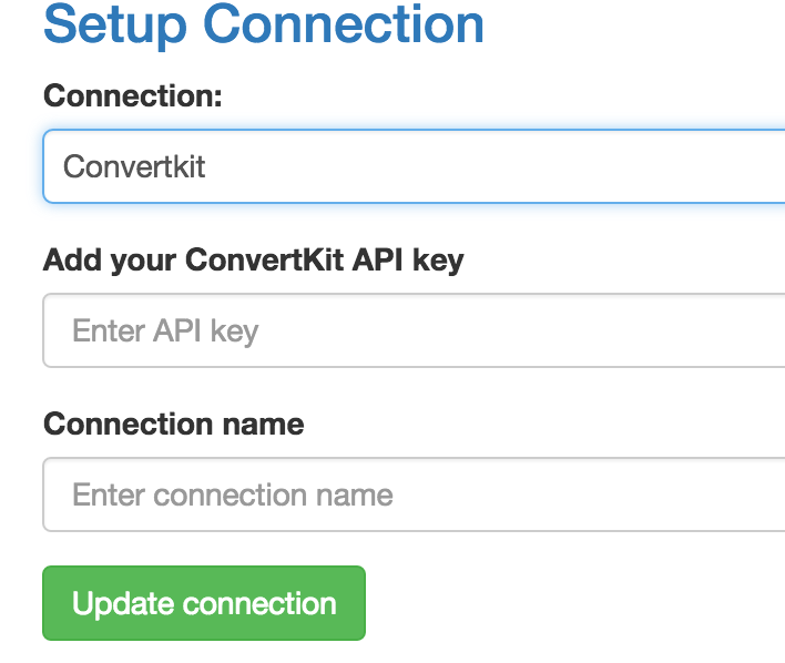Select ConvertKit from the dropdown