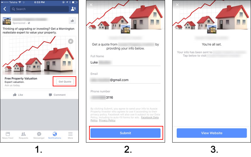Realtor Facebook Lead Ad Example