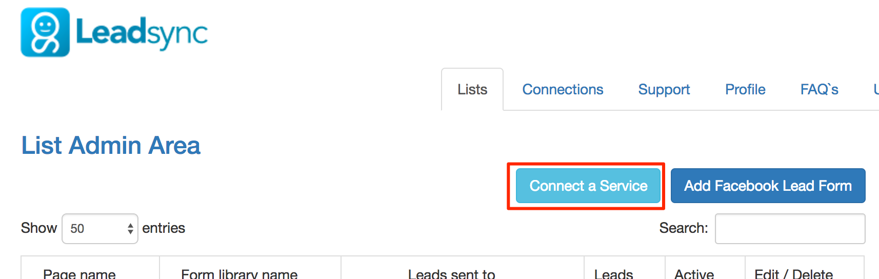 Connect a service