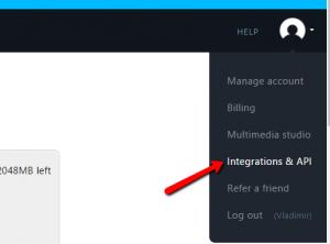 Integrations & API settings
