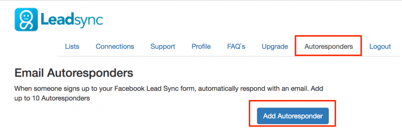 Facebook Lead ads Autoresponder