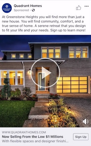 Quadrant Homes Facebook Ads