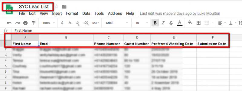 Add Facebook lead to Google Sheet