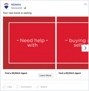 RE/MAX Facebook Carousel Ad
