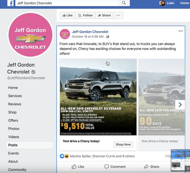 Car dealership Ad Example