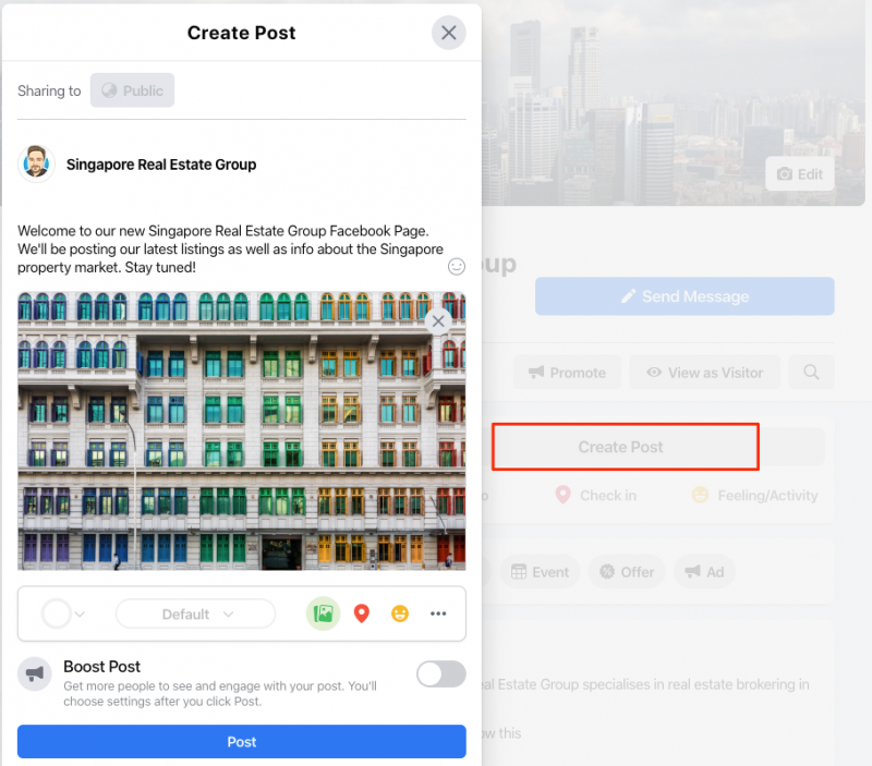 Create a Facebook Page Post