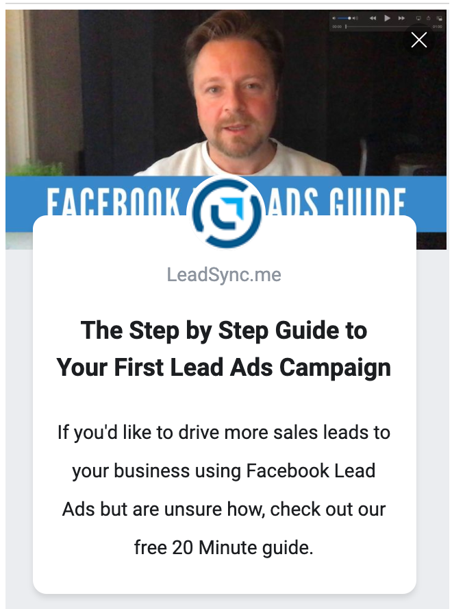 Facebook Lead Ads introduction