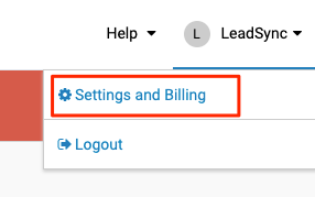 iContact Settings & Billing