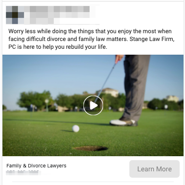 Family Law Lead Ad Example