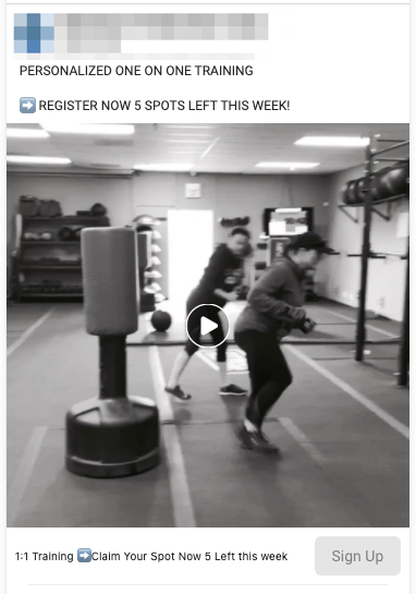 Boot Camp Lead Ad Example