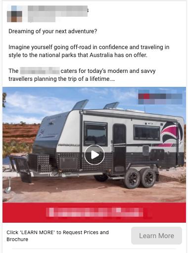 Caravan Sales Lead Ads