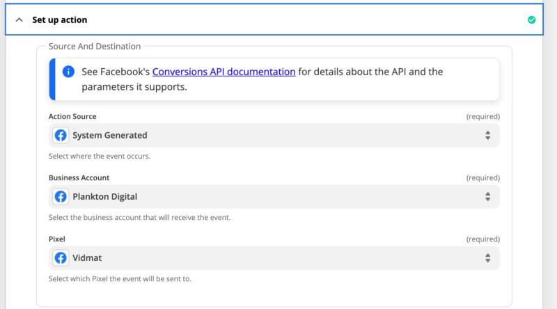 Setup a Facebook Conversion Action